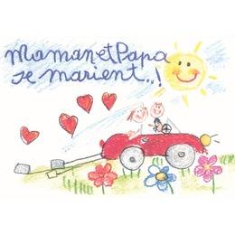 papa et maman en voiture - Faire Part Mariage Papa Et Maman Se Marient