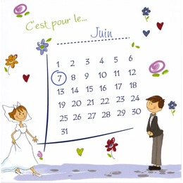 mariage calendrier