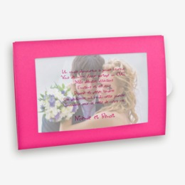 porte photo fuschia