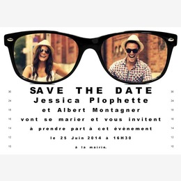 save the date lunettes