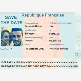 save the date identité