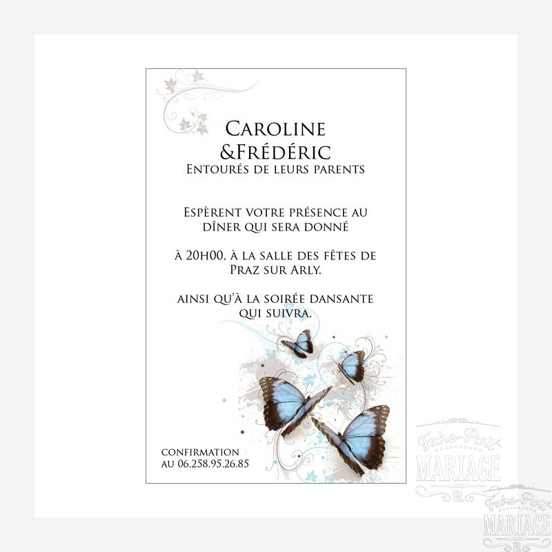 pack mariage papillons
